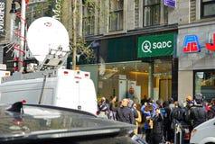 Ansicht eines SQDC-Speichers in Montreal, das legalen Hanf verkauft lizenzfreie stockfotos