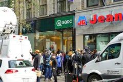 Ansicht eines SQDC-Speichers in Montreal, das legalen Hanf verkauft lizenzfreies stockfoto