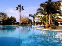 Ansicht eines Swimmingpools Stockbild