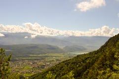 Ansicht eines Tales in Alto Adige Stockbild