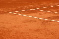 Ansicht eines Tennisgerichtes Stockfoto