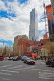 Ansicht eines typischen New- Yorkstraßenbilds Stockbild