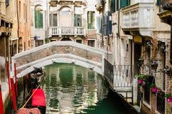 Ansicht eines venetianischen Kanals, der alte Bezirk von Venedig ohne tou Stockfoto
