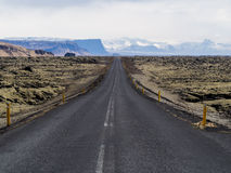 Ansicht entlang Islands Ring Road stockbild