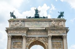 Ansicht für Spitze von ACRO-della Schritt in Mailand, Italien Lizenzfreie Stockfotografie