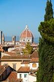 Ansicht Florence Cathedrals, Italien Lizenzfreie Stockbilder