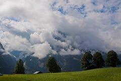 Ansicht fom der ERSTE Berg stockbild