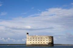 Ansicht am Fort Boyard vom Atlantik - dem Frankreich Stockfotos