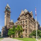 Ansicht am Gebäude des alten Rathauses in Toronto - Kanada stockbilder