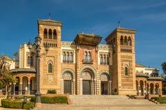 Ansicht am Gebäude Kunstmuseum in Sevilla, Spanien stockbilder