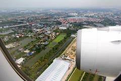 Ansicht gerieben vom Flugzeug Lizenzfreies Stockbild