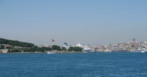 Ansicht am goldenen Horn von der asiatischen Seite des Bosphorus Stockfoto