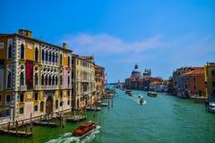 Ansicht Grand Canal s, Venedig von der Accademia-Brücke Lizenzfreie Stockfotos