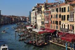 Ansicht Grand Canal s von Venedig, Italien lizenzfreies stockbild