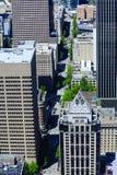 Ansicht herauf vierte Allee in Seattle Lizenzfreies Stockfoto