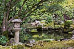 Ansicht Hojo Gardens Chion-in am buddhistischen Tempel stockfotografie
