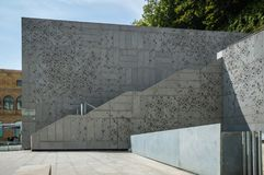 Ansicht im Freien des Museums von San Telmo in San Sebastián Lizenzfreies Stockfoto