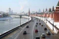 Ansicht im Moskau im Winter. Lizenzfreies Stockfoto