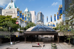 Ansicht in im Stadtzentrum gelegenem Vancouver von Art Gallery Stockbilder