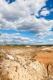Ansicht im Tagebau lizenzfreies stockbild