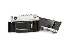 Ansicht innerhalb einer Weinlese-Kamera lizenzfreie stockbilder
