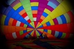 Ansicht innerhalb eines großen Ballons Stockfoto