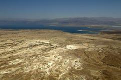 Ansicht Judean-Wüste und des Toten Meers von der Spitze von Masada lizenzfreies stockbild