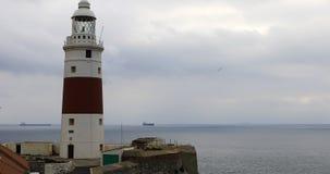 Ansicht 4K UltraHD des Dreiheits-Haus-Leuchtturmes auf Gibraltar stock video