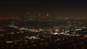 Ansicht 4K UltraHD Timelapse Nachtvon Los Angeles, Kalifornien stock footage