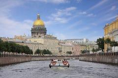Ansicht Kathedrale der Str.-Isaac Stockfotografie