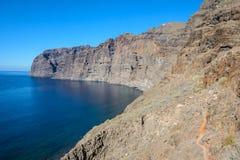 Ansicht Klippen der Los-Gigantes Tenerife, Kanarische Inseln, Spanien stockbild