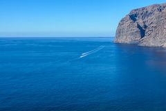 Ansicht Klippen der Los-Gigantes Tenerife, Kanarische Inseln, Spanien lizenzfreies stockfoto