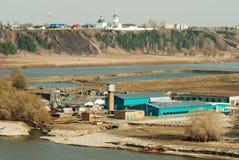 Ansicht in Kloster Abalak Znamensky und Fischanlage Lizenzfreies Stockfoto