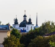 Ansicht-Kloster der Geburt Christi der Jungfrau in Grodno stockbilder