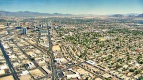 Ansicht Las Vegass Nevada - Aereal Stockbild