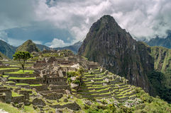 Ansicht Machu Picchu Stockbilder