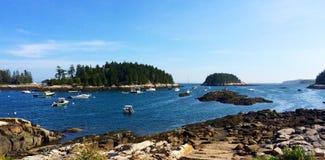 Ansicht Maine USA mit fünf Inseln Lizenzfreie Stockfotografie