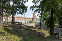 Ansicht Marianne Wilhelmine Oranska Palaces in Kamieniec Zabkowicki, Polen Lizenzfreie Stockfotos