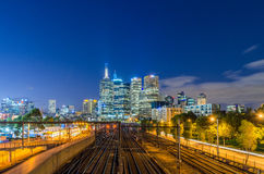 Ansicht am Melbourne-Panorama Stockfotos