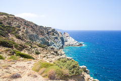Ansicht mit blauer Lagune auf Kreta, Griechenland Lizenzfreie Stockbilder