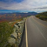 Ansicht mit Fall folliage von Mt Washington, New Hampshire, USA lizenzfreies stockfoto