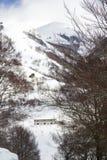 Ansicht mit Schnee Stockfotografie