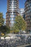 Ansicht modernen Gebäudes Kopenhagens in Vesterbrogade lizenzfreies stockfoto