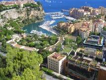 Ansicht Monacos Monte Carlo am Sommertag Lizenzfreies Stockfoto