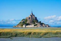 Ansicht Mont Saint Michels, Normandie Frankreich lizenzfreies stockbild