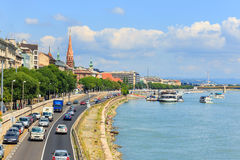 Ansicht nach Budapest am 24. Juli 2014 Lizenzfreies Stockfoto
