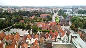 Ansicht nach Lübeck, Deutschland Stockbild