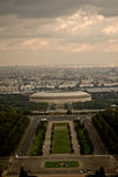 Ansicht nach Moskau Stockbild