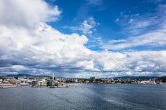 Ansicht nach Oslo Lizenzfreies Stockbild