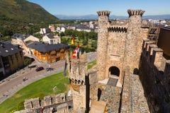 Ansicht nach Ponferrada vom Schloss Stockfotografie